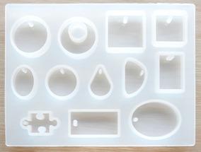 Molde Silicona Para Resina Con 12 Figuras De Colgantes