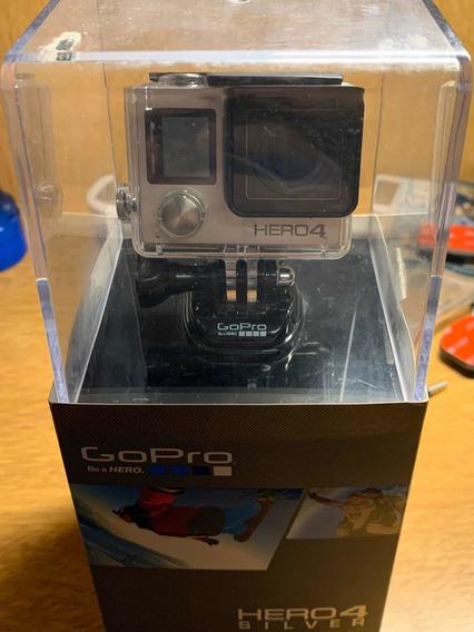 Gopro Hero 4 Silver Con Pantalla Tactil, Caja Y Accesorios