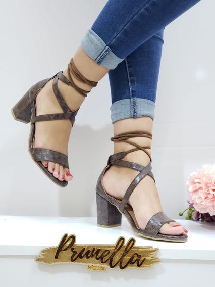 Sandalias Dama Zapatillas Mujer Tacon Casuales 15 /z