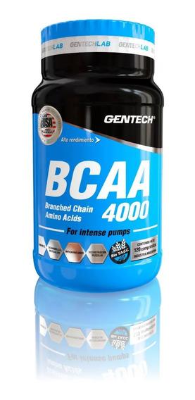 Gentech Bcaa 4000 120 Tab Suplementos Aminoacidos