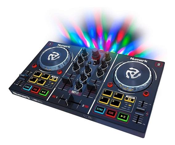 Controlador Dj Numark Party Mix Mixer C/ Luces Envío Gratis