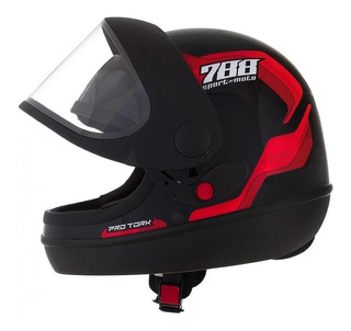 Capacete para moto integral Pro Tork Sport Moto 788 vermelho tamanho 58