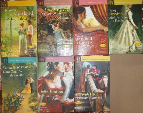 Grandes Romances Históricos Harlequin Books - Lote Com 7