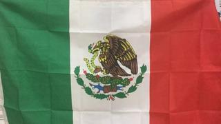 Bandera De Mexico De Tela Grande Fiestas Patrias Nueva