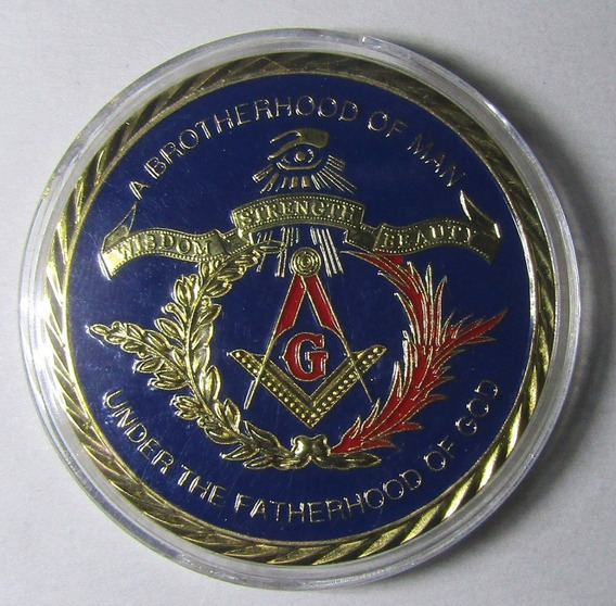Hermosa Medalla Masónica 1 Onza Esmaltada
