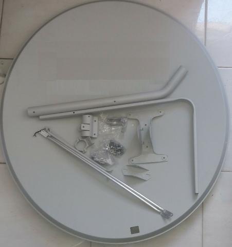 Antena De Chapa Ku 90 Cm Com Logo Vivo - Pronta Entrega