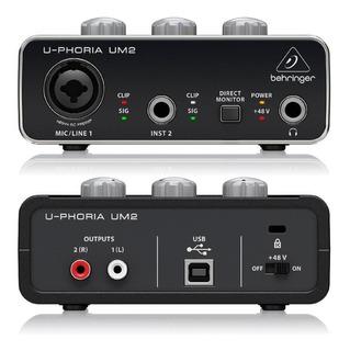 Behringer U-phoria Um2 Interface De Audio Usb 2x2 Pre Xenyx