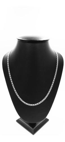 Cadena Plata Fina 925 Tejido Éxito Mujer Hombre Unisex 55cm