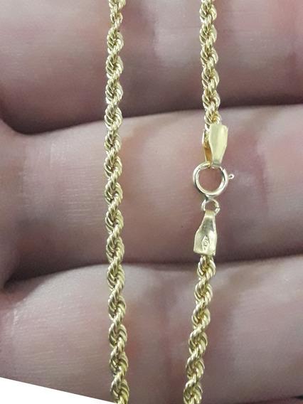 Cordão Baiano Em Ouro 18k Tam 50 Cm 3.4 Grama + Brinde !!!