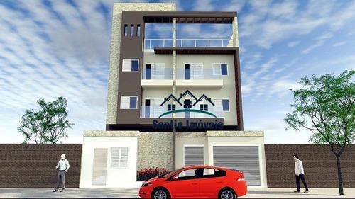 Cobertura Com 2 Dormitórios ,50 % Coberta,lavabo,vaga De Garagem À Venda, 75 M²  - Santa Maria - Santo André/sp - Co0454