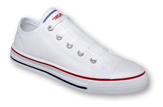 Tenis Tipo Converse Textil Blanco-mod.0700al5315791