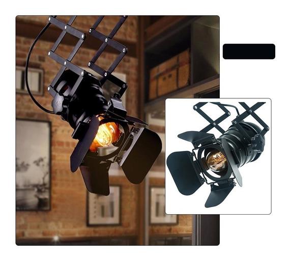 Kit Com 2 Luminária Spot Refletor Cinema Retro Safonada E27