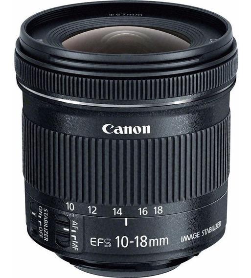 Objetiva Canon Ef-s 10-18mm F/4.5-5.6is Stm Garantiacanon Br
