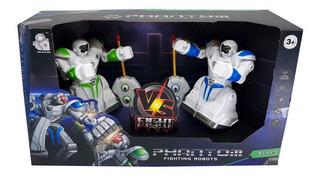 Set 2 Robots De Pelea Control Remoto Juguete