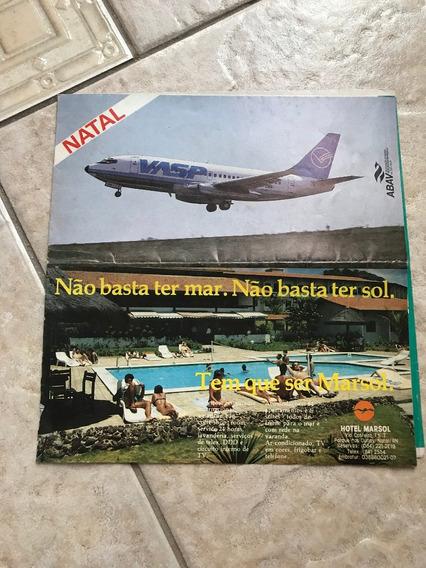 Folheto Antigo Mapa De Natal Propaganda Vasp E Marsol F352