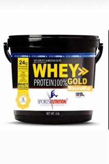 Whey Protein 100% Gold Baldão De 1815g Sports Nutrition