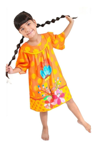 Vestido Infantil Feminino Tulipa Turca Maria Arteira Off