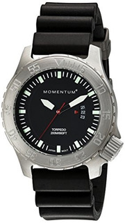 Momentum Mens 1mdv74b1b Torpedo Pantalla Analogica Reloj De
