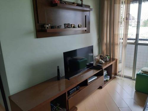 Apartamento À Venda Em Interlagos, 3 Dormitórios, 1 Suíte, 1 Sala Ampla, 1 Vaga De Garagem, 72 M², São Paulo. - Ap0684