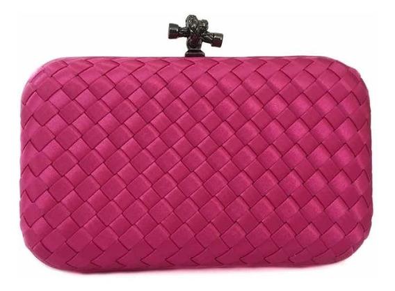 Bolsa Clutch Trançada Pink