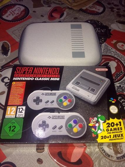 Super Nintendo Classic - Modelo Europeu + Case De Brinde