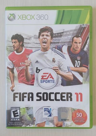 Jogo Fifa Soccer 11 - Xbox 360 - Mídia Física - Usado