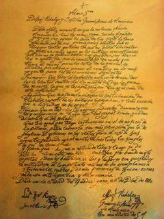 Lienzo Tela Bando De Miguel Hidalgo Y Costilla 1810 67 X 50
