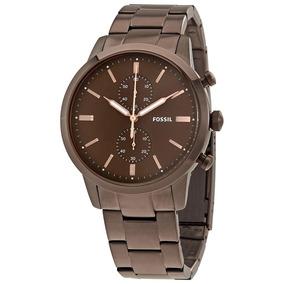 Relógio Fossil Fs5347/4mn Marrom Townsman Original Garantia
