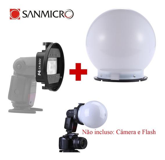 Globo Difusor Universal Flash Canon, Nikon, Sony, Yongnuo