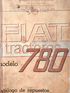 Manual De Repuestos Tractor Fiat 780r Version 3