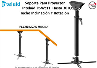 Soporte P/proyector Intelaid It-wc11 Hasta 30 Kg Techo