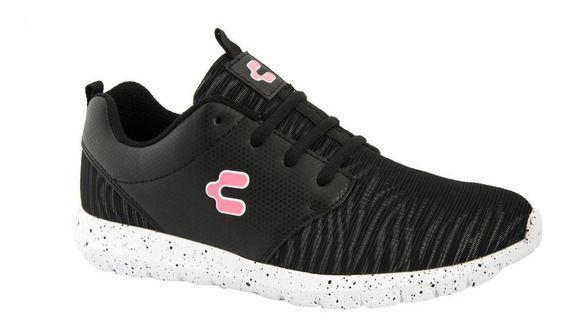 Tenis Casual Charly 2054 Color Negro Dama