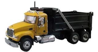 First Gear 1:64 - Caminhão Mack Granite Dump Truck Amarelo