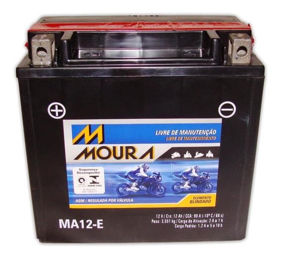 Bateria Moura R 1200 Gs R1200 Bmw Selada Ytx14-bs Ma12-e
