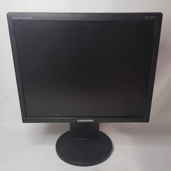 Monitor Lcd 17poleg Samsung 743b Syncmaster Tela Giratória