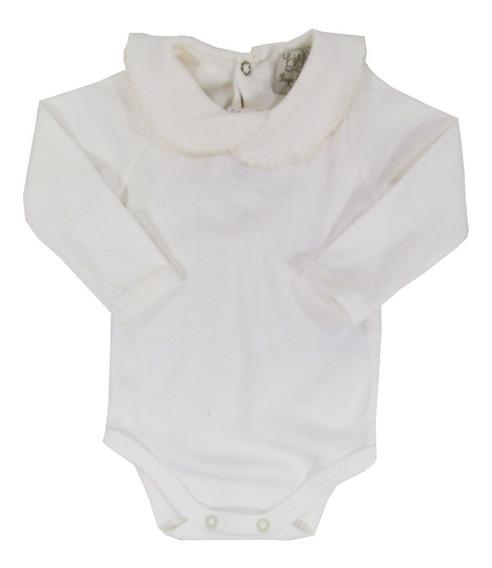 Body Bebê Menina Salopetemanga Longa Gola Redonda Pingo Lelê