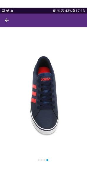 Sapato adidas Neo (azul/vermelho)