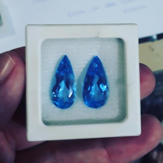 Par De Topázio Blue
