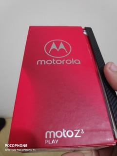 Moto Z3 Play Novo Caixa Notafiscal Garantia Com Moto Snaps