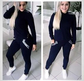 Roupa De Frio Adulto Feminino Blusa + Calça Agasalho Luxo Cg