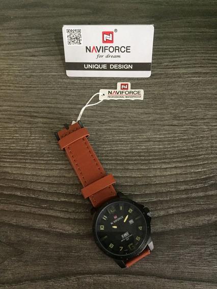 Relógio Naviforce Militar Pulseira De Couro