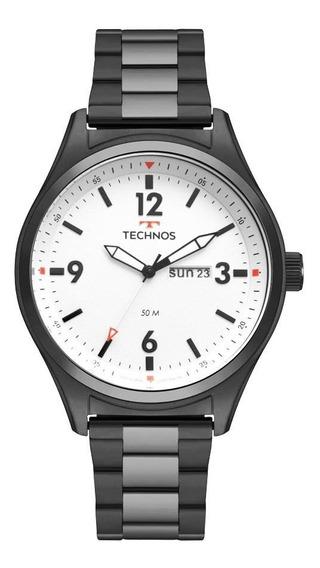 Relógio Technos Masculino 2105ax/4b Militar Preto