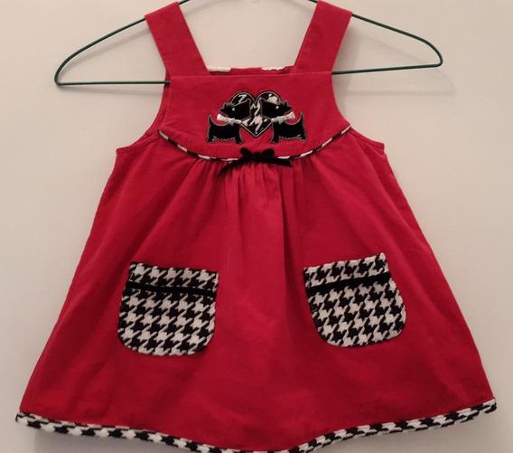 Vestido Tela De Pana, Para Niña, Talla 2