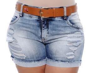 Short Jeans Kit 10 Peças Feminino Do 2 Ao 56 Infantil Adulto