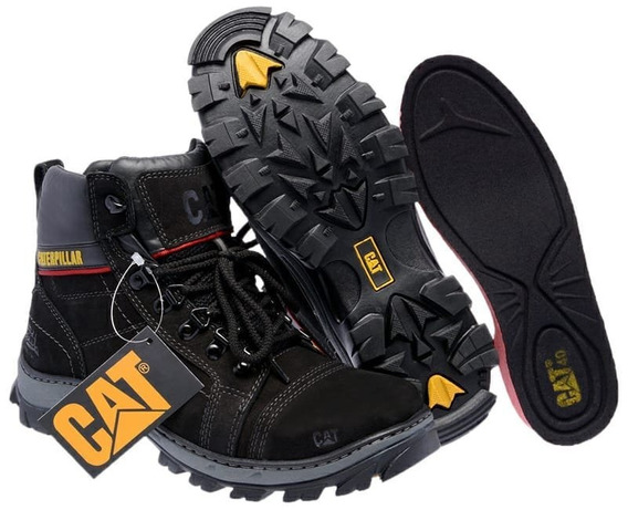 Bota Coturno Caterpillar Couro Original + Palmilha De Gel