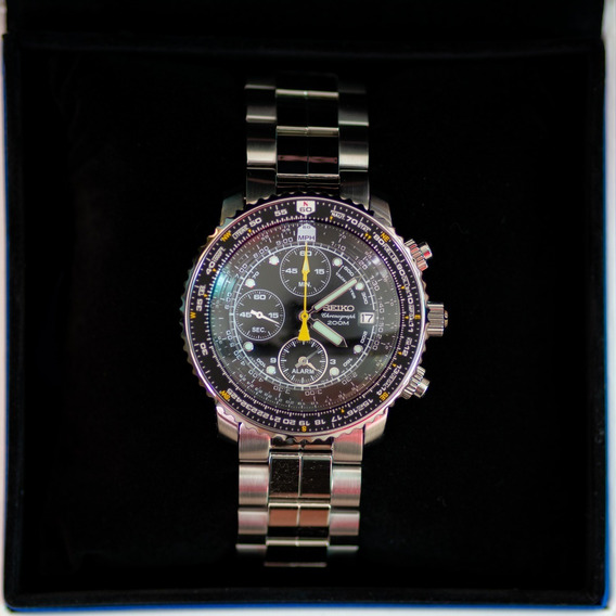 Relógio Masculino Seiko Sna411 Flightmaster 200m P. Entrega