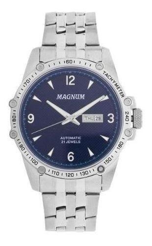 Relógio Masculino Prata Barato Magnum Ma33853f