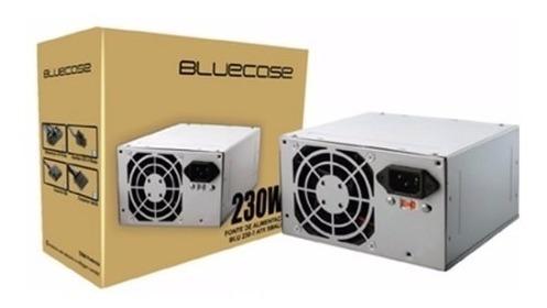 Fonte Atx 230w Bluecase C/cabo E Caixa Blu230-t Small- Nova
