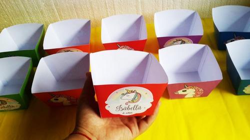 Unicornio Cajita Nuggets  Personalizada