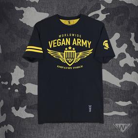 Playera Negra W2 Mod. Ejército Vegano